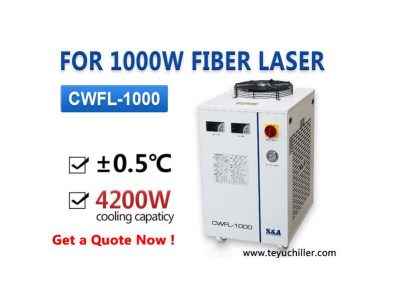Air cooled laser water chiller for 1KW fiber laser