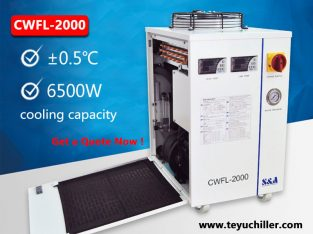 Industrial water chiller for fiber laser welder