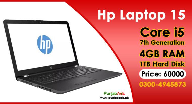Hp Laptop 15 Core i5 7th Generation 4GB/1TB