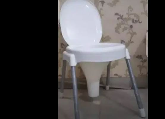 Commode Chair 120 kg Capacity- Washroom chair Commode Stool Non Rust