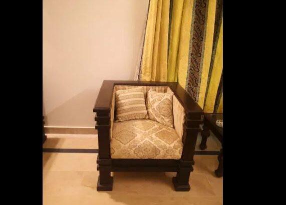 sofa set, rocking chair and coffee set