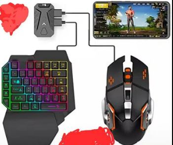 PUBG Mobile Gaming Kit with keyboard and gaming mouse.
