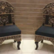 Black Color Valvit Room Chairs or Sofa Bed Dining Table For Sale In Gujranwala