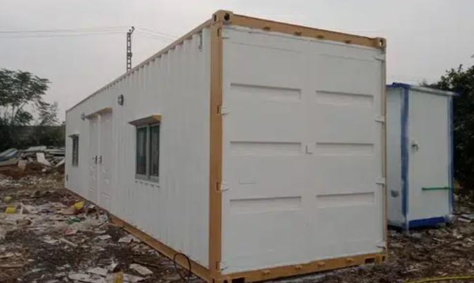 caravan container work station wooden interior and indoor wiring