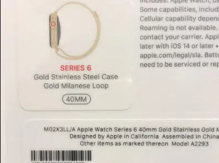 Apple watch series 6 40mm stainless steel GPS+cellular non active