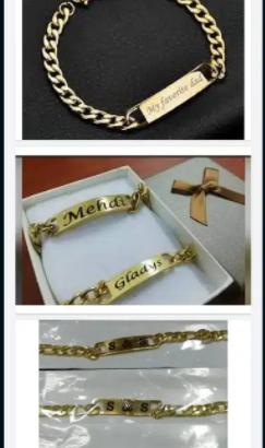 Customize name breslet for men