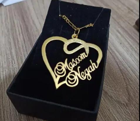 Artificial jewellery customize name locket