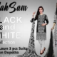 Black & White Collection by MahSam 3 Pcs Lawn Suits