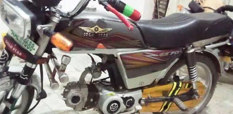 Gold star bike 70cc for sale in sahiwal