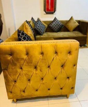 valvet L shape sofa for sale in lahore