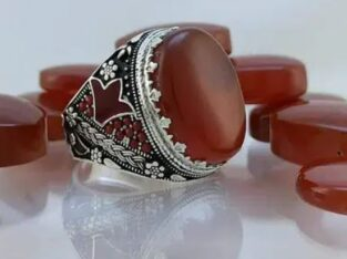 silver ring (925) with yemeni aqeeq stone