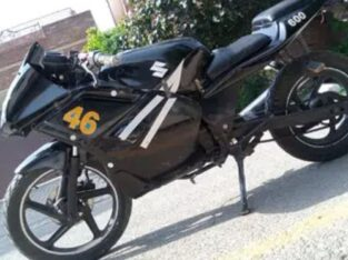 Suzuki GS 150 Heavy bike 600 modified black