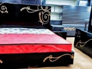 New Double King Size Bed Set with Side Tables