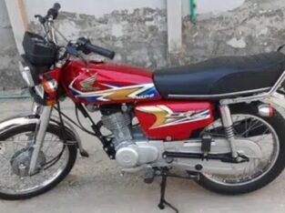Honda 125 Red Colour 2020 Model for sale